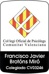 Javier Brotons psicólogo Valencia colegiado